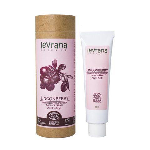 Дневной крем для лица Брусника, anti-age, Levrana