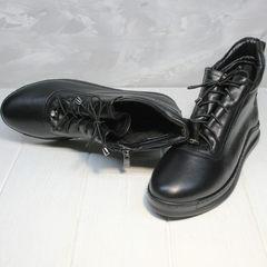 Женские ботинки из натуральной кожи Evromoda 375-1019 SA Black