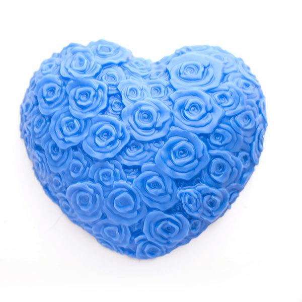 Форма пластиковая Сердце из роз