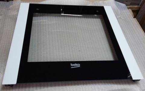 Внешнее стекло дверки духовки плиты БЕКО 410300614