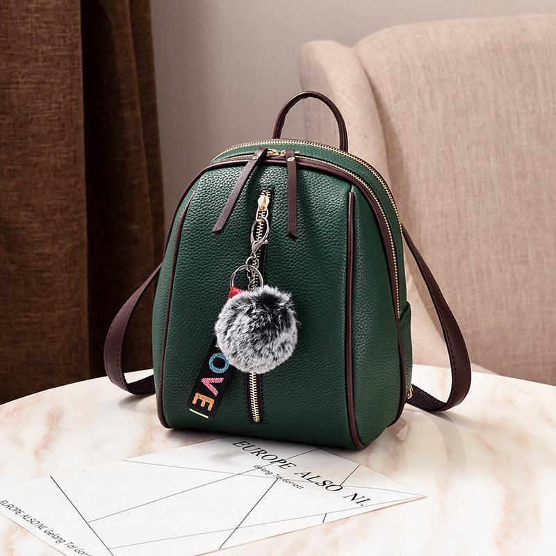 Женский маленький рюкзакок 18х24х12 см зелёный 4378-4