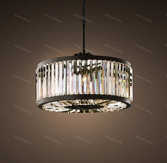 Люстра WELLES CLEAR CRYSTAL ROUND Restoration Hardware 68060842