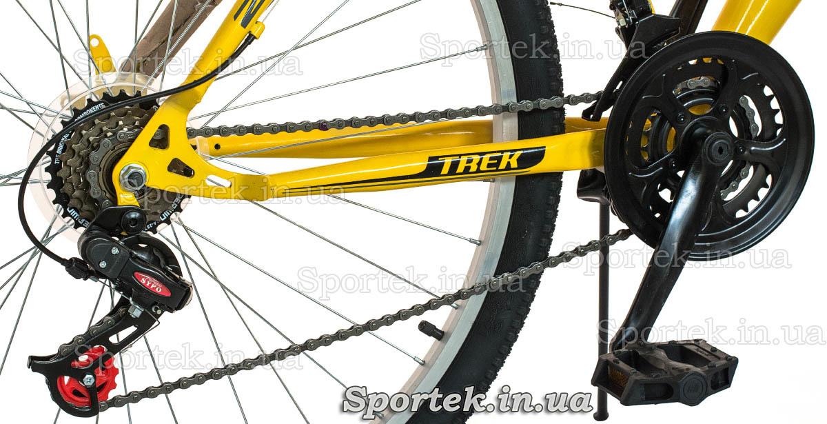Трансмиссия горного универсального велосипеда Discovery Trek 2016 (Дискавери Трек)