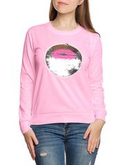 37747-6 Толстовка женская, розовая