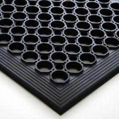 Коврик напольный REM 600x900х14мм ячеистый окантовкой(резина)