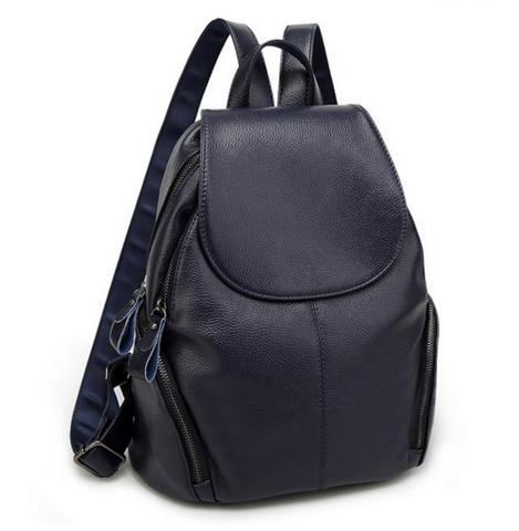 Женский кожаный рюкзак Crispino Blue