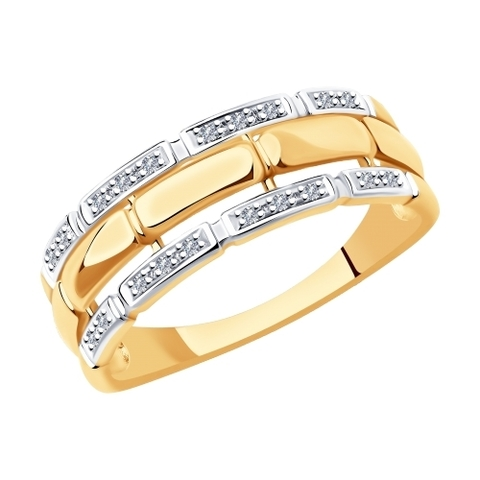1011958 - Кольцо из золота с бриллиантами