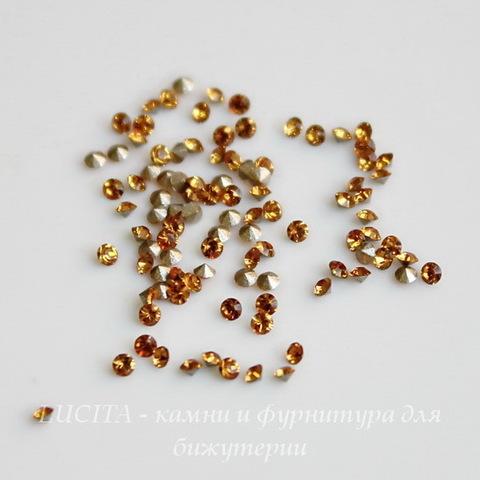 1028 Стразы Сваровски Topaz PP 6 (1,3-1,35 мм), 20 штук