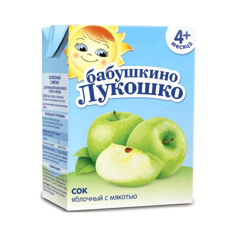 Бабушкино Лукошко Сок осв. Яблочный 200мл