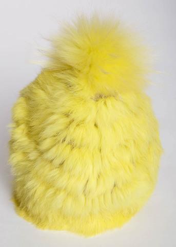 Шапка из меха кролика YVES SALOMON