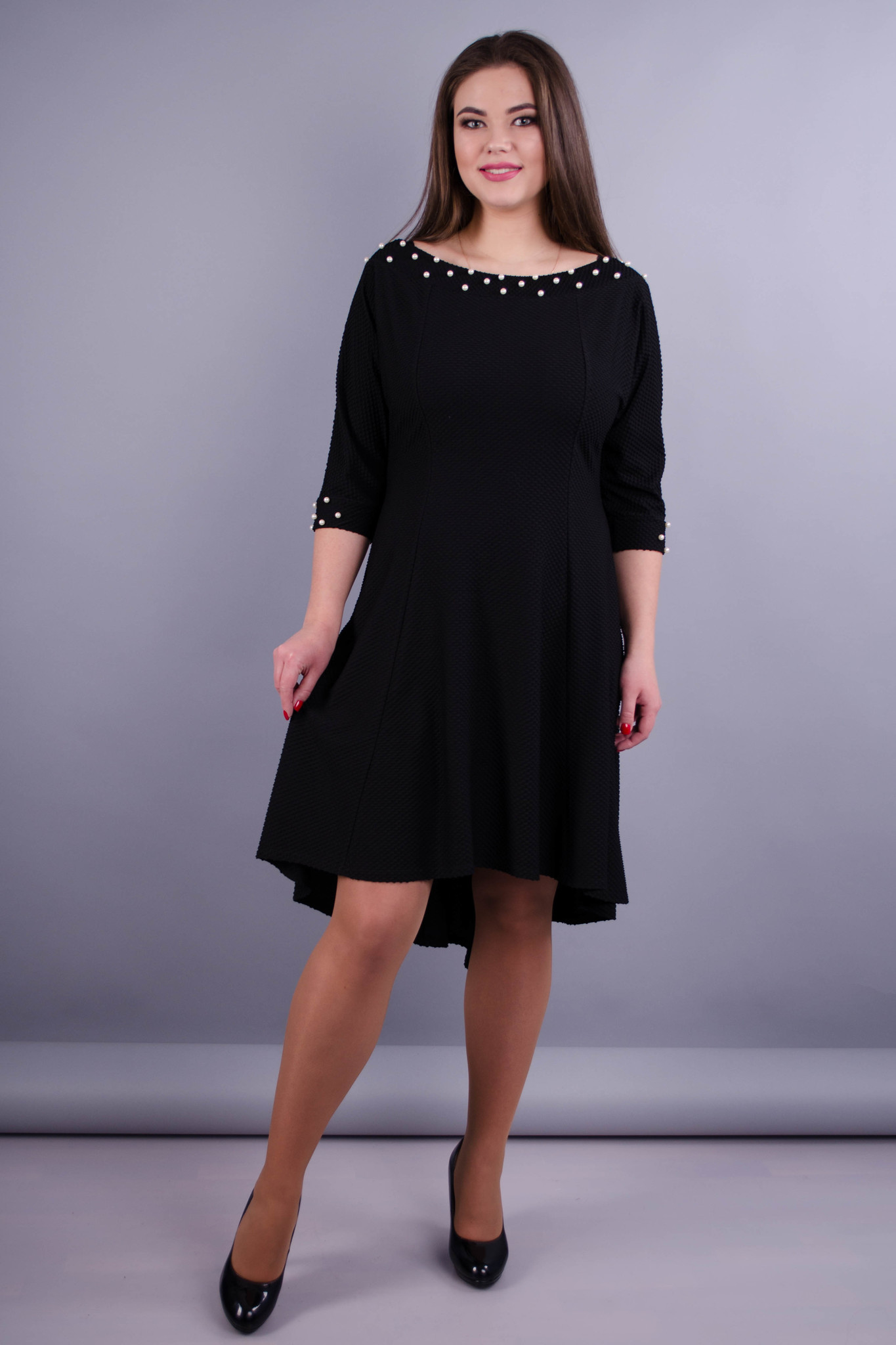 Лейла. Жіноча святкова сукня великих розмірів. Чорний. - купить по ... 417418b09c63f