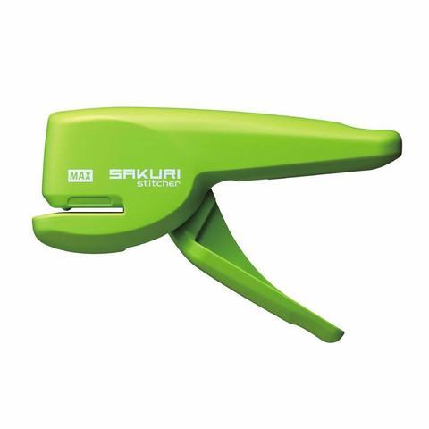 Бесскобочный степлер (плиер) Max Sakuri Stitcher (светло-зеленый)