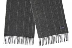 Шерстяной шарф темно-серый 31411