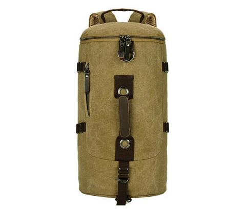 Мужской рюкзак трансформер из ткани коричневого цвета