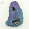 Бусина Агат с Кварцем с жеодой (тониров), цвет - бензиновый, 45-72 мм (№6 (57х41 мм))