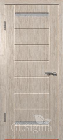 Дверь GreenLine Sigma-1, стекло белое, цвет беленый дуб, остекленная