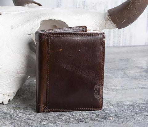Мужской кошелек из гладкой натуральной кожи