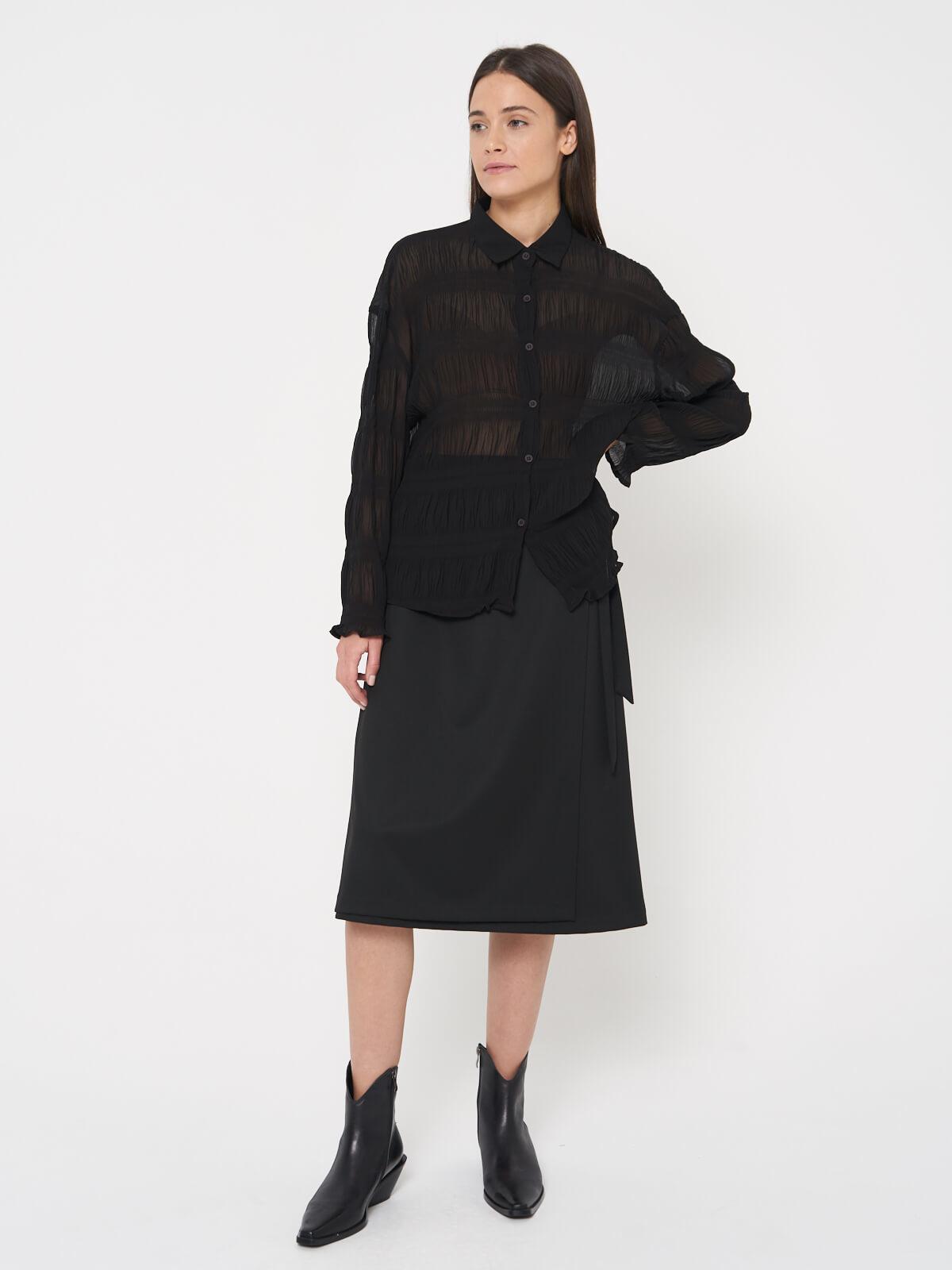Блуза гофрированная