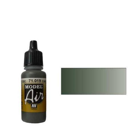 019 Краска Model Air Комуфляжный зелено-темный (Cam. Dark Green) укрывистый, 17мл