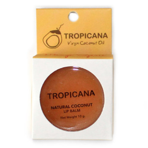 Tropicana Бальзам для губ с Манго Natural Coconut Lip Balm Mango, 10 г