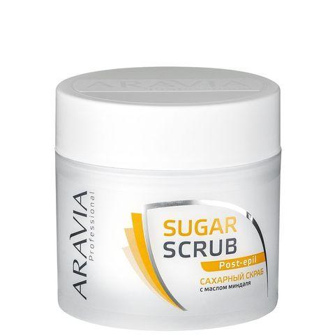 Aravia Professional Сахарный скраб с маслом миндаля для тела 300 мл