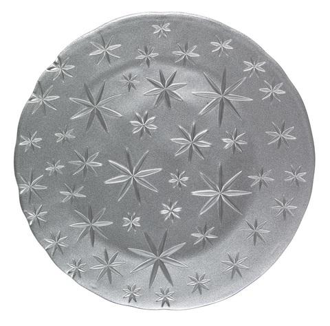 Блюдо круглое серебряное, артикул 95893. Серия Stars