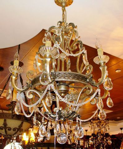 vintage chandelier 40-06  ( by Funky Vintage )
