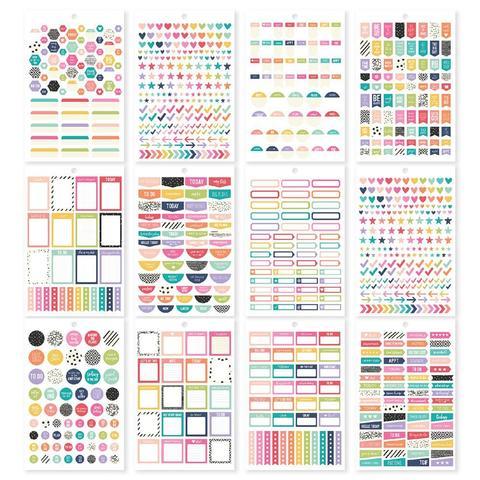 Стикербук - Carpe Diem A5 Planner Sticker Tablet- Planner Basics, 944 шт