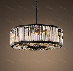 Люстра WELLES CLEAR CRYSTAL ROUND Restoration Hardware 68060841