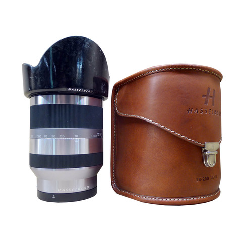 Hasselblad Lunar LF 18-200 mm f/ 3.5-6.3 OSS brown lether case