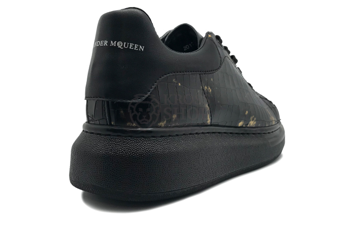 Alexander McQueen Men's Black/Gold Skin