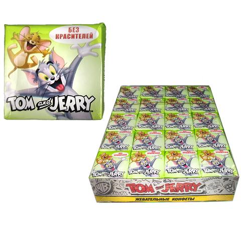 Tom and Jerry жевательные конфеты со вкусом Яблоко 1кор*18бл*40шт 11.5гр