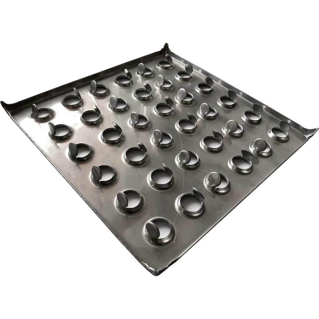 Металлическая плитка 300х300х1,5 (нержавеющая сталь)