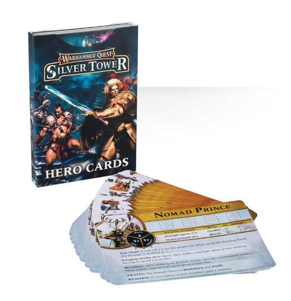 Warhammer Quest Silver Tower Hero Cards