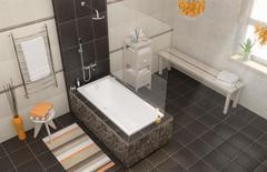 Ванна акриловая Cersanit  LORENA 160x70 ультра белая
