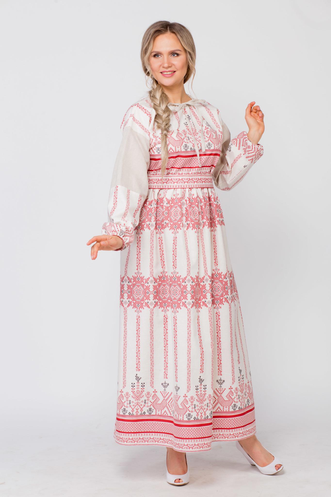 Платье льняное Земледелие в интернет-магазине