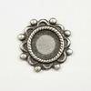 """Сеттинг - основа """"Цветок"""" для камеи или кабошона 7 мм (оксид серебра)"""