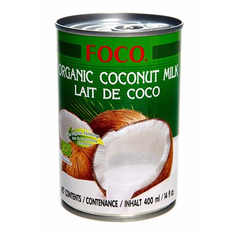 FOCO, Органическое кокосовое молоко (жирность 10-12%), 400мл