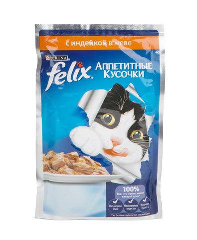 Felix кусочки в желе для кошек (индейка) 85 г