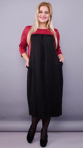 Роксолана. Оригинальное платье больших размеров. Красный.