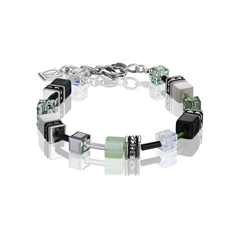 Браслет Coeur de Lion 2838/30-0536 цвет серый, зелёный, чёрный