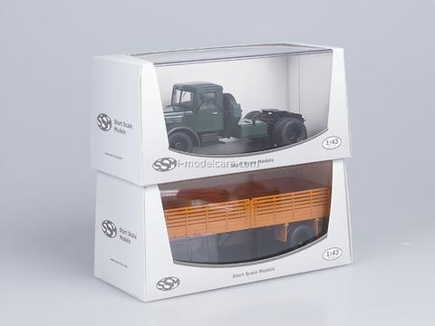 MAZ-200V and semitrailer MAZ-5215 orange Start Scale Models (SSM) 1:43