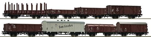 Набор грузовых вагонов 8 шт., HO, эп.III, DR