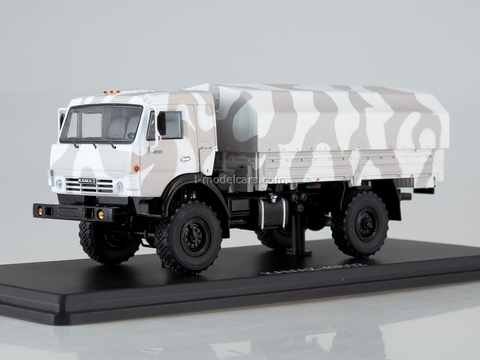 KAMAZ-43502 Mustang camouflage Arctic white-gray 1:43 Start Scale Models (SSM)