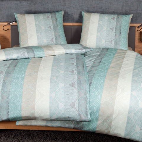 Постельное белье 2 спальное евро Janine Messina 4720 aquagrau-sand