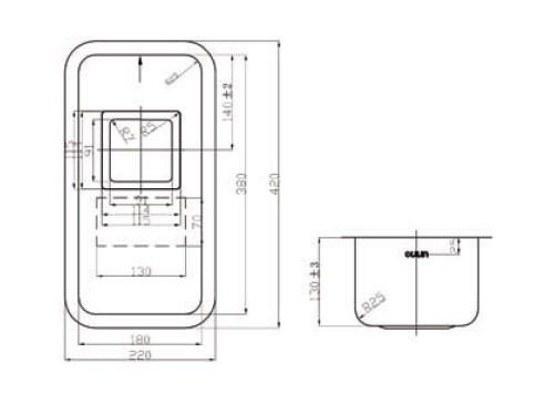 Кухонная мойка OULIN 0361 SGUARE схема