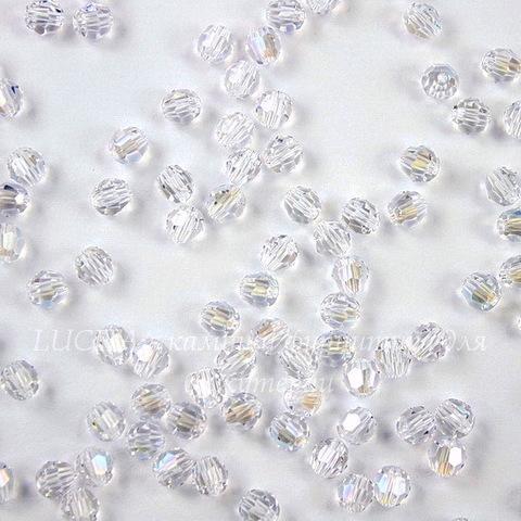 5000 Бусина - шарик с огранкой Сваровски Crystal Moonlight 4 мм, 5 штук