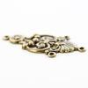 Винтажный декоративный элемент - коннектор (1-3) 34х16 мм (оксид латуни)