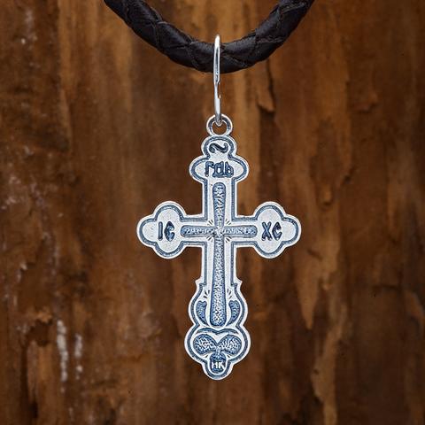 Крестик православный . Спаси и сохрани. Корона.