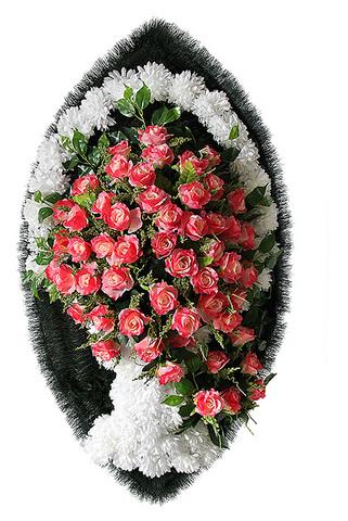 Венок на похороны 110 см элитный Ваза №4